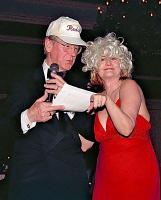 Gala Auctioneer Gant Redmon and his assistant Sheila Mudd